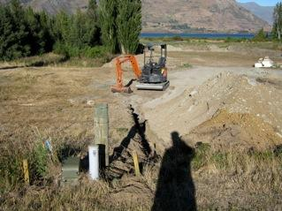 Digger on site Wanaka
